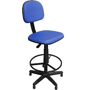 Cadeira Alta Caixa Fixa Giratória com Regulagem e Apoio Pés CS05 - Pethiflex