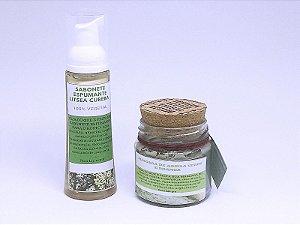 Kit Máscara Argila Verde + Sabonete Espumante