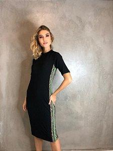 Vestido Midi Canelado