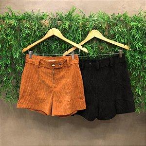 Shorts Veludo Cotelê
