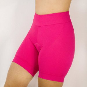 Bermuda ciclismo emana forro d120  feminino rosa
