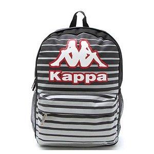 Mochila Kappa Stripe Cinza
