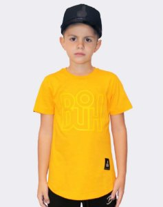 T-SHIRT BÚH OUTLINE AMARELO KIDS