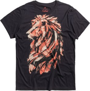 T-SHIRT BRUSH LION / PRETO