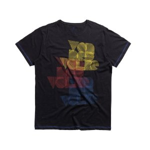 T-SHIRT BOTONE COLOR VDV / PRETO