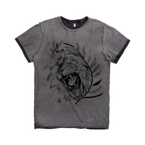 T-SHIRT DOUBLE FACE LION VDV / PRETO