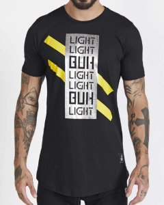 T-SHIRT BÚH LIGHT FOIL PRETO