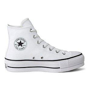 Tênis Converse CT09820001 Chuck Taylor All Star Lift Hi Couro Branco