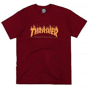 Camiseta Thrasher Flame Logo Bordo
