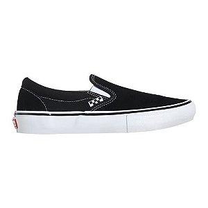 Tênis Vans Skate Slip-On Preto/Branco