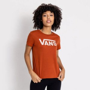 Camiseta Vans Flying V Crew Laranja