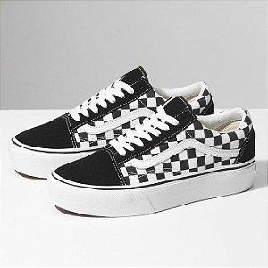 Tênis Vans Old Skool Plataforma Checkerboard