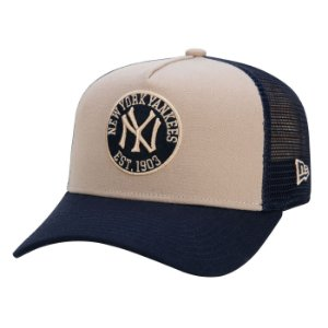 Boné New Era 9Forty Trucker Snapback Aba Curva NY Yankees Core Felt
