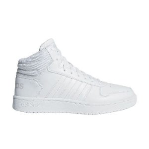Tênis Adidas Hoops 2.0 Mid All-White