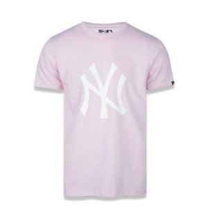 Camiseta New Era MLB New York Yankees Logo Rosa