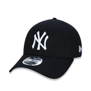 Boné New Era 39Thirty High Crown MLB New York Yankess Preto