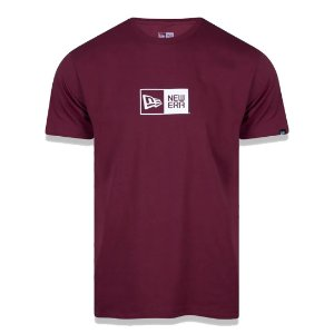 Camiseta New Era Logo Box Bordo