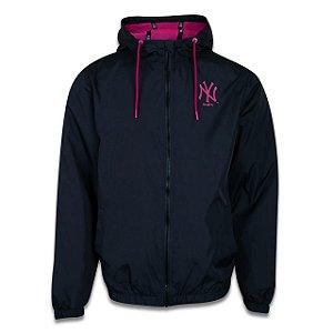 Jaqueta Corta Vento New Era (Windbreaker) New York Yankees MLB Preto/Vermelho