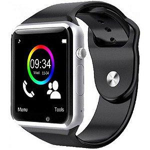 dc21c404e17 Relógio smartwatch A1 original touch bluetooth gear chip - prata
