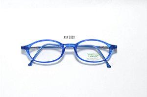 Óculos Infantil - Fibra de Carbono - Marca: Benneton ref: 3802 - Azul -Atacado de Óculos