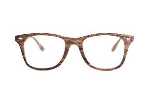 Óculos Unisex imita madeira - Injetado - Modelo: Marron Claro - Atacado de Oculos