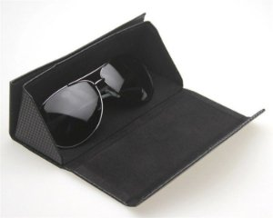 kit com 50 unidades - Case Dobrável Estilo Ana Hickmann para Óculos de Sol ou para oculos de grau - sem marca - preto - Estojo Carteira