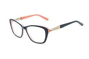 Armação para óculos feminino gatinho -  ZZ4034 Preto - Atacado de Óculos - Óculos para óticas