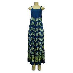 Vestido Longo Dupla Alça - Flor de Pavão