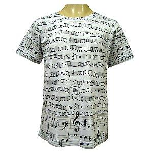 Camiseta Infantil - Notas Musicais