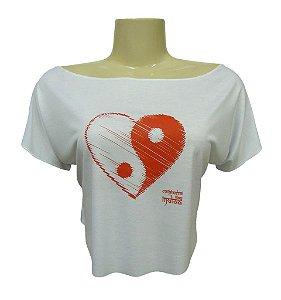 Baby Cropped - Coração Yin Yang