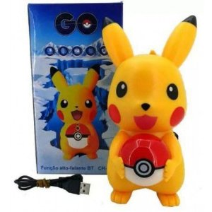 Caixa Som Led Bluetooth Pokemon