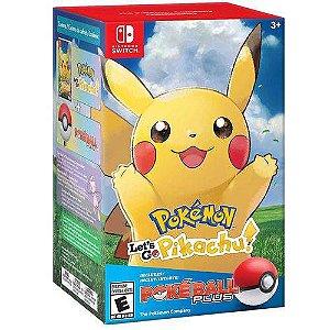 Jogo Pokemon Lets Go Pikachu Combo Pokeball Plus -  Switch