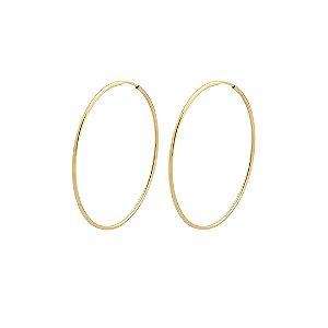 Argola de fio folheada a ouro 18k