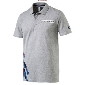 CAMISA POLO PUMA BMW MSP GRAPHIC cinza