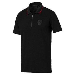Camisa Polo Puma Ferrari Masculina - Preto