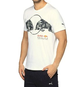 CAMISETA PUMA RED BULL RACING GRAPHIC  - Creme