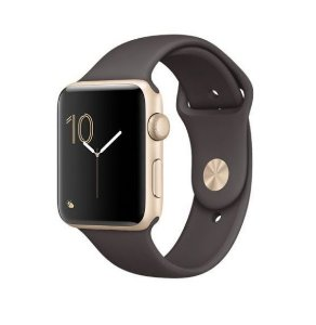 Apple Watch Series 2, 42mm, Alum, Pulseira Esportiva Gold Cocoa