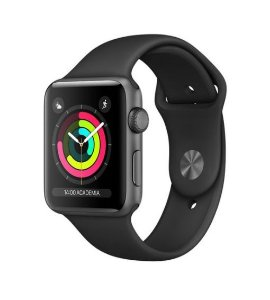Apple Watch Series 2, 38mm, Alum, Pulseira Esportiva Preta