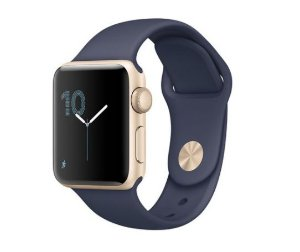 Apple Watch Series 2, 38mm, Gold Alum, Pulseira Esportiva Azul