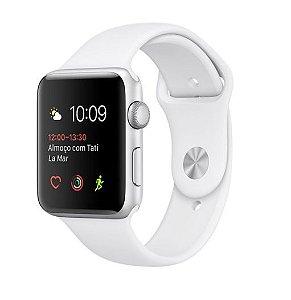 Apple Watch Series 2, 38mm, Alum, Pulseira Esportiva Branca