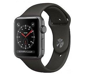 Apple Watch Series 3 GPS Gray, 38mm, Alum, Pulseira Esportiva Preta