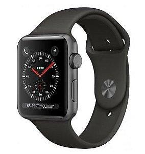 Apple Watch Series 3 GPS Gray, 42mm, Alum, Pulseira Esportiva Preto