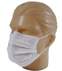 Máscara descartável TNT - 10 unidades com clipe Nasal