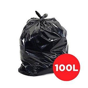 Saco Lixo Preto Reforçado 100 Litros - 100 unidades