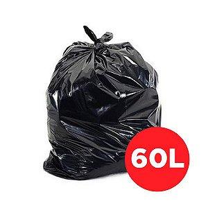 Saco de Lixo Preto 60 Litros - 100 unidades
