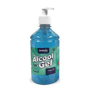 Álcool Gel 70% Pump Antisséptico Fragrância Soft e Hidratante de 500 ml