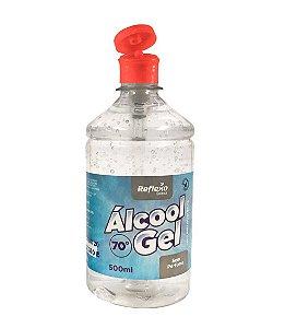 Álcool Gel 70% Antisséptico Fliptop SEM PERFUME de 500 ml