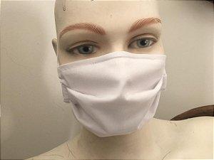 Máscara Dupla Tricoline 100% algodão Lavavel com Clipe Nasal