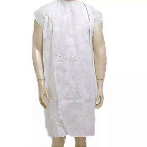 Avental Descartável Tnt Branco Sem Manga  10un