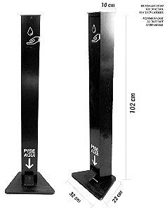 Dispenser de alcool gel com pedal - Tipo Totem